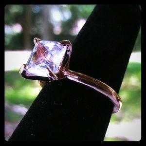 18K Rose Gold + White Sapphire Ring